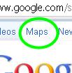 Google Maps tab