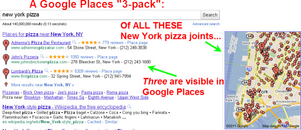 "Will Google use ""3-pack"" local search results?"