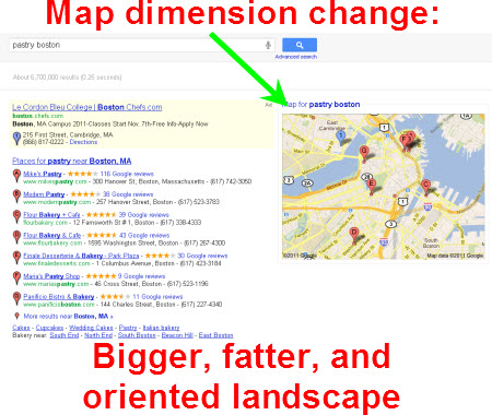 how to change size of labels in google map