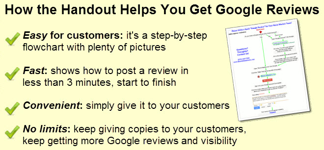"One-Page Handout for Getting Easy ""Google Reviews"" from"