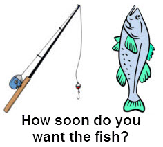 How soon do you want the fish (AKA more local visibility and customers)?