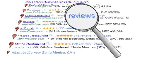 A closer look at Google Places reviews
