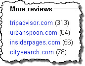 Factor: total # of reviews on third-party sites