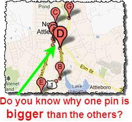 New: extra-large map pins for businesses in Google Places