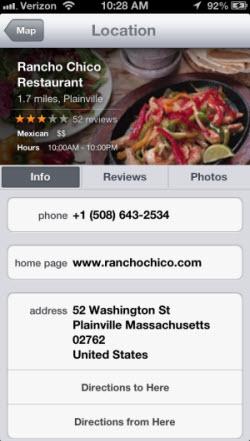"A ""Jony Ivesian"" Apple Maps local business listing"