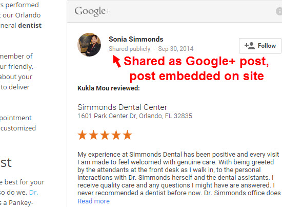 Pasting Or Embedding Google Reviews On Your Site Will They Get