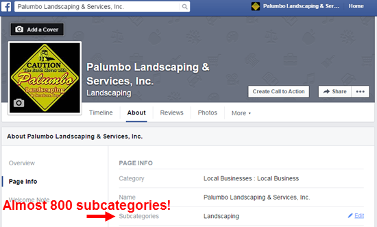 Facebook Local Business Categories List | LocalVisibilitySystem.com
