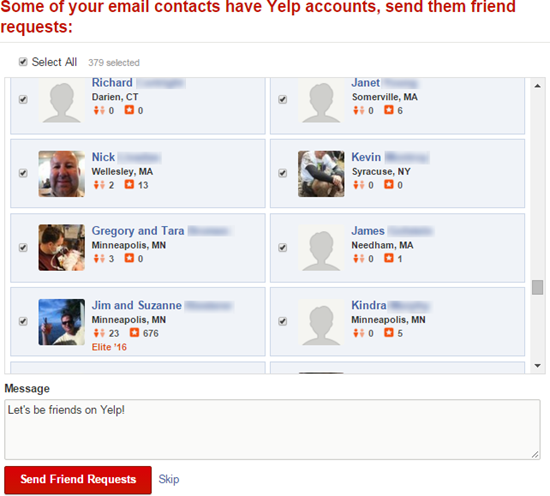 how to send an email to yelp
