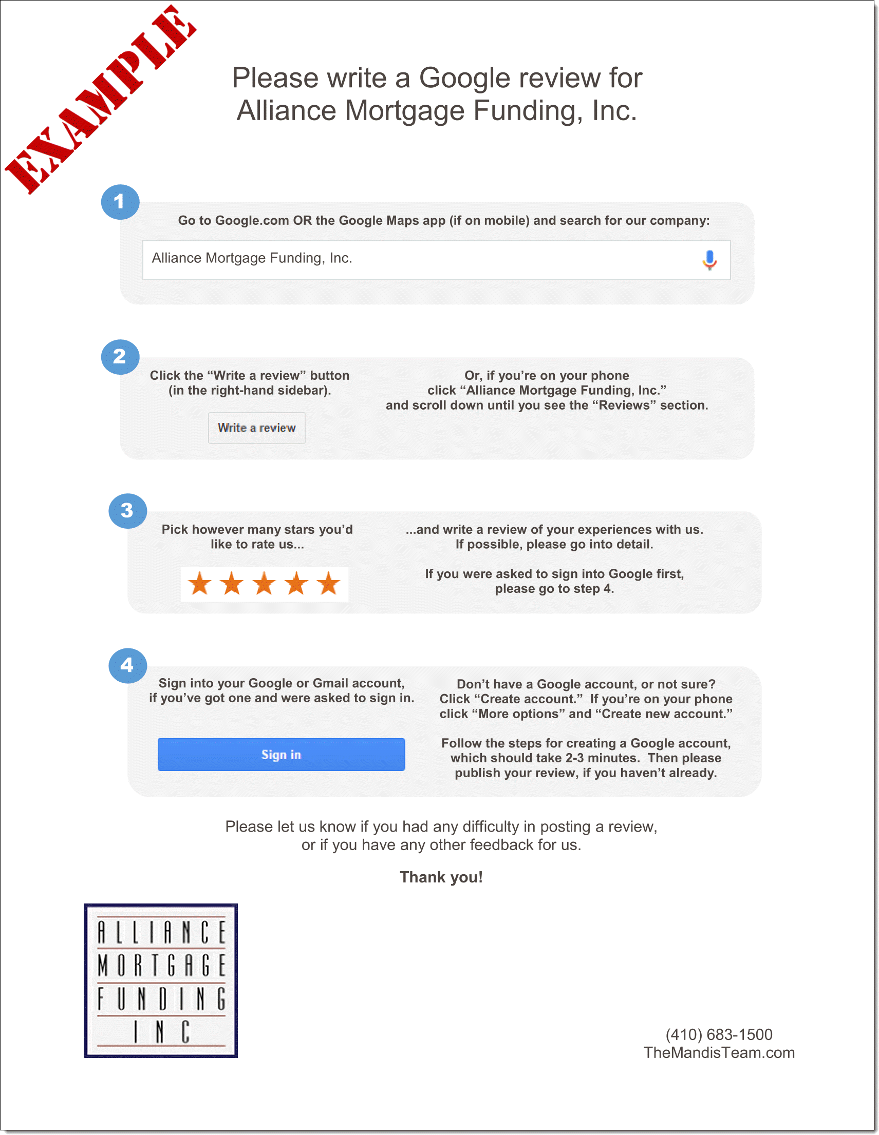 How to write a google reviewer