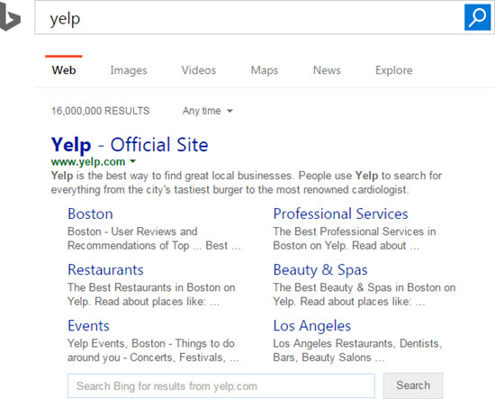 bing-yelp-sitelinks