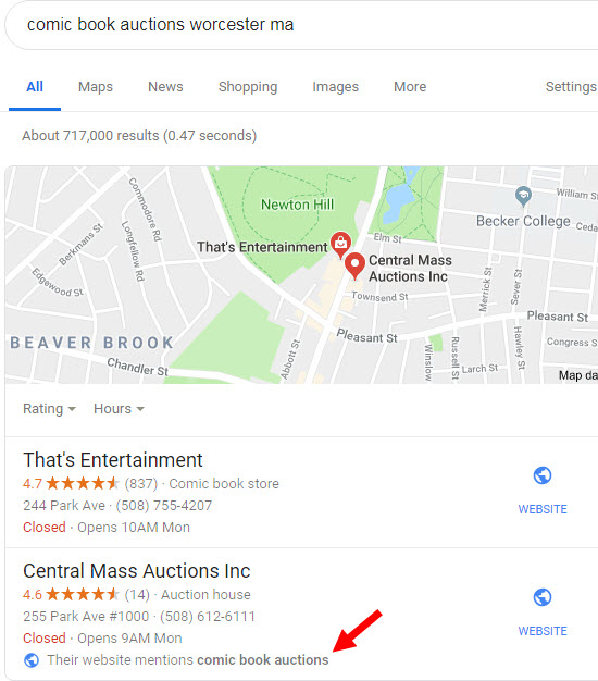 The Easiest Way to Get a Google Maps One-Box Result – without